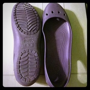 Crocs purple flats size 11
